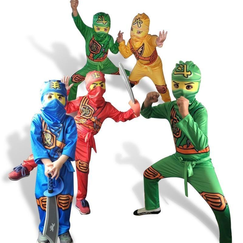 CUTE Set Kids Boys Girls Ninjago Superhero Costumes Children Cosplay Fancy Party