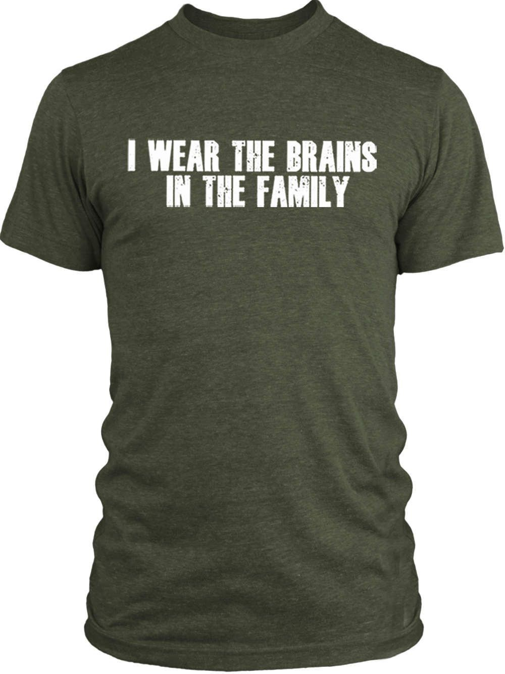 Big Texas I Wear the Brains in the Family (White) Vintage Tri-Blend T-Shirt