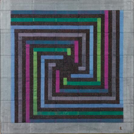 Pattern design by Lucienne Day (1917-2010), ca 1985, silk mosaic.