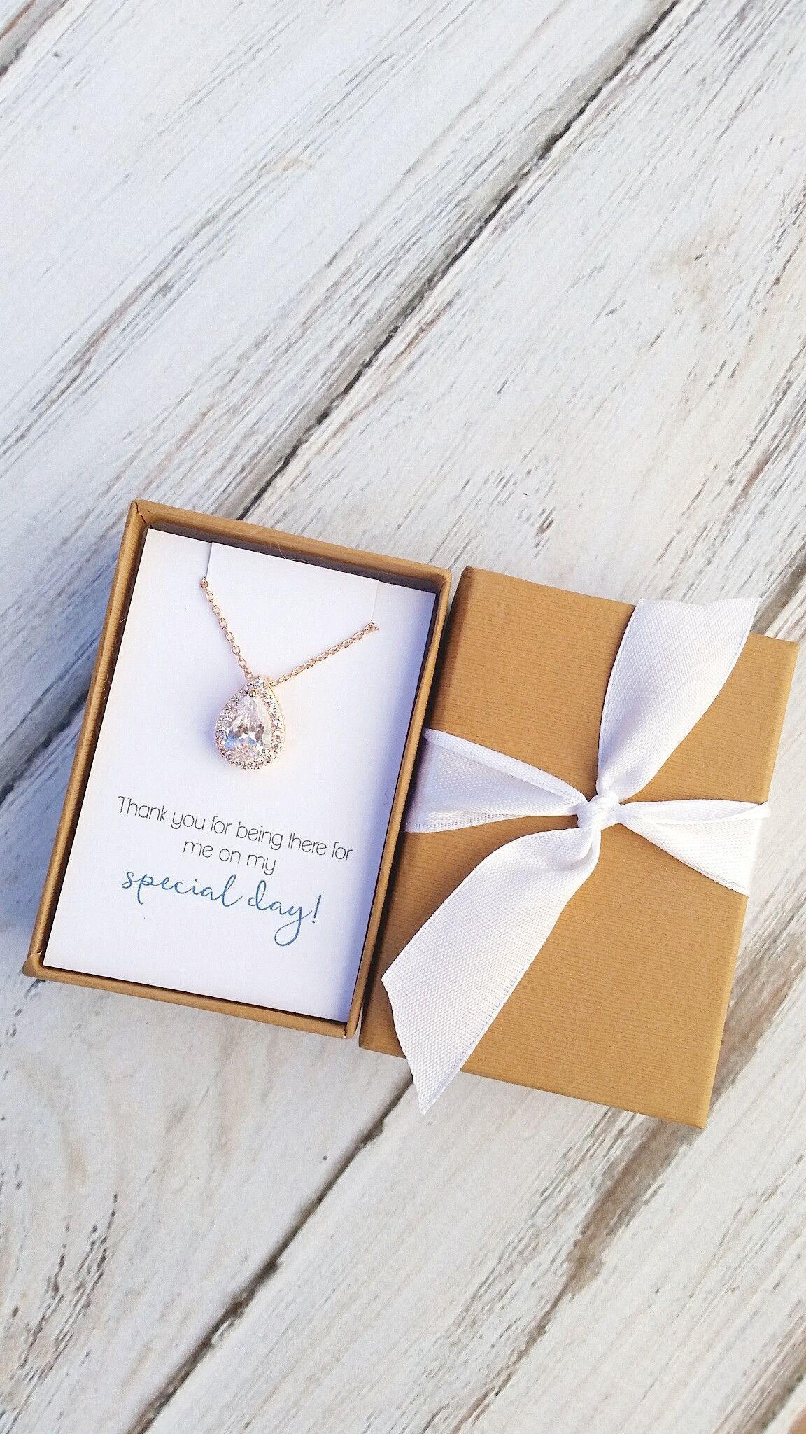 Rose Gold/Gold Teardrop Necklace | Teardrop necklace, Winter wedding ...