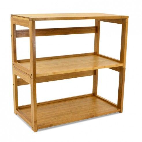 Bamboo Stacking Bookshelf And Top