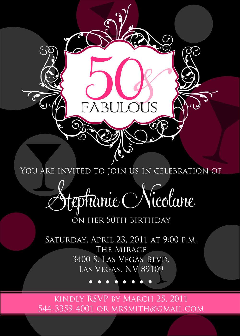 50th Birthday Beach Party Invitations – 50th Birthday Party Invite