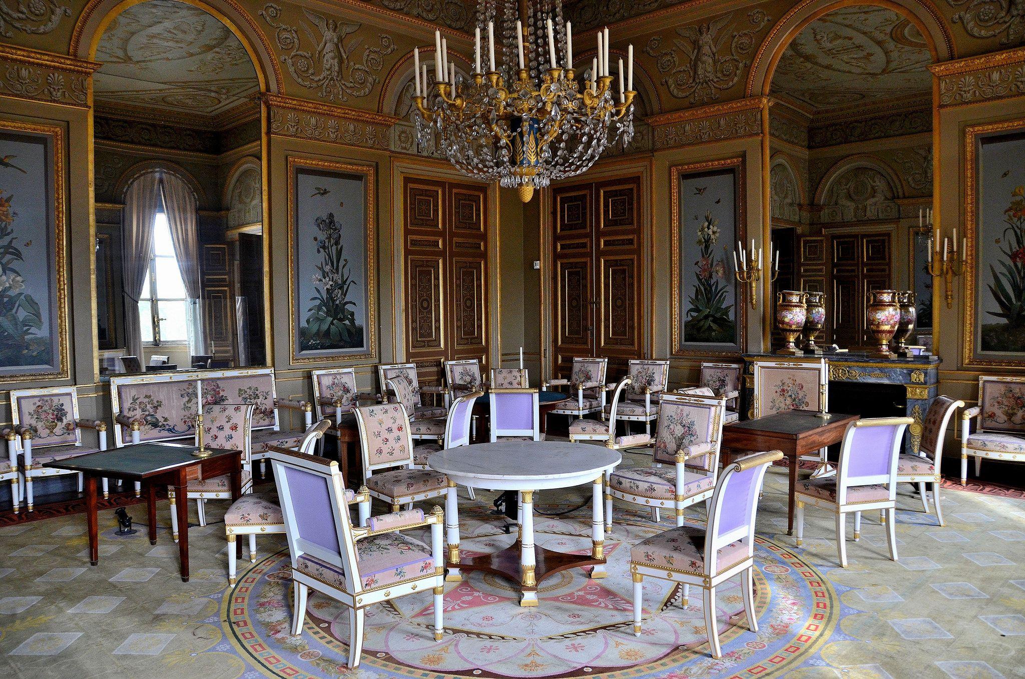 Ch Teau De Compi Gne Oise Salon Des Fleurs French Interior