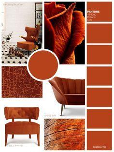Potter's Clay   9 Amazing Mood Boards To Inspire Your Next Fall Home Decor Project   Interior Design Inspiration. Color Trends. #colortrends #interiordesign #homedecor Read more: https://www.brabbu.com/en/inspiration-and-ideas/interior-design/moodboard-inspiration