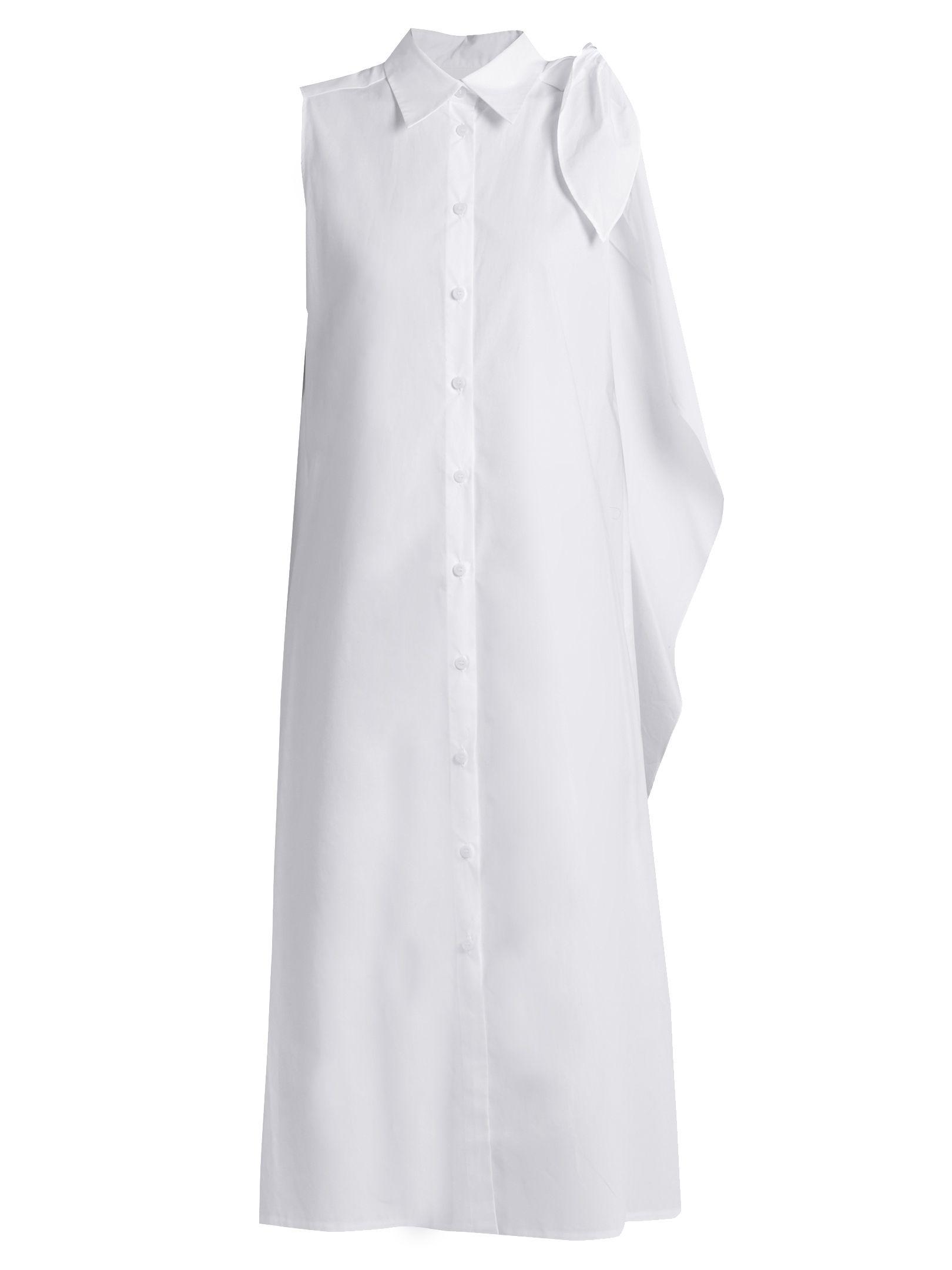 87c088d63b4 Tie-shoulder cotton-poplin shirtdress | MM6 by Maison Margiela |  MATCHESFASHION.COM