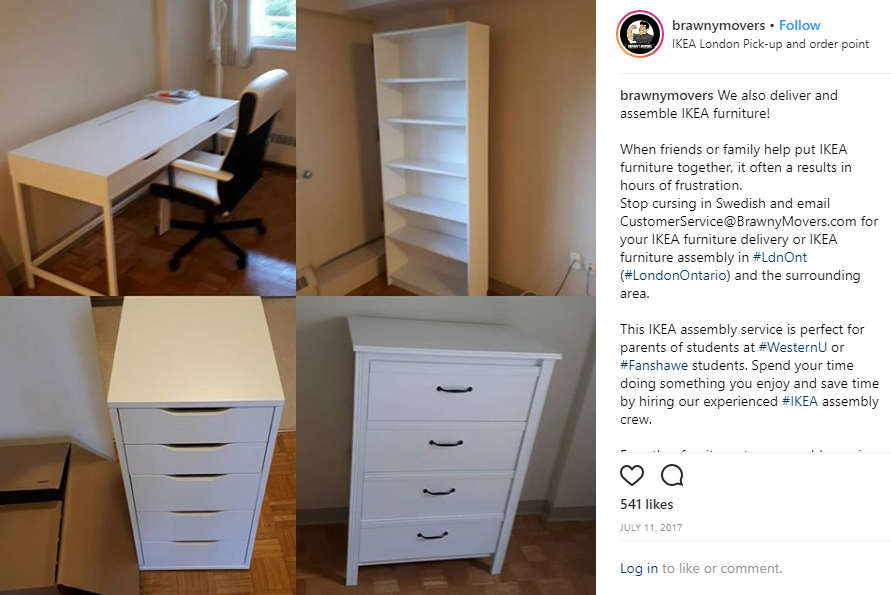 An Ikea Furniture Assembly Project For A Westernuniversity Student Students Find Ikea Furnitur Ikea Furniture Assembly Furniture Assembly Furniture Delivery