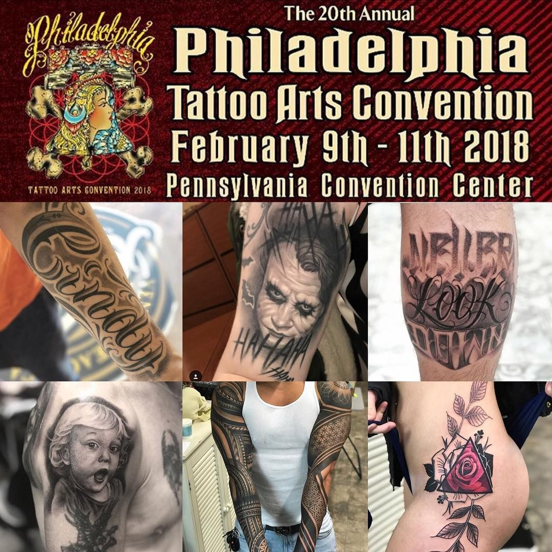 Come check us out this week well be the Philadelphia Tattoo Arts Convention @villainarts the Pennsylvania Convention Center from February 9th-11th. Attending artist will be Mikey @mikeypythons and Steelo @chosen_to_exit #philadelphia #philly #pennsylvania #pa #tattooconvention #tattoo #tattoos #inked #tattooed #inkedgirls #inkedguys #instagood  #instadaily #tattedup #tatted #oceanfronttattoo #oceanfront #oft #picoftheday #eastcoast #artist #tattooartist #tattedgirls #inkedup #phillies #eagles #f