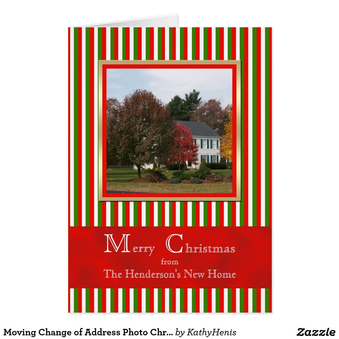 Moving Change of Address Photo Christmas Card | Custom CHRISTMAS ...