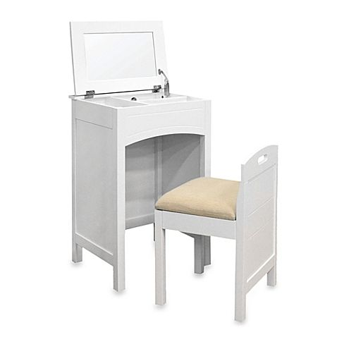 Cheswick Vanity Storage Unit And Seat In White Bed Bath Beyond