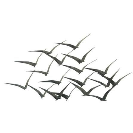 Flock of Metal Flying Birds Wall Art | Dunelm Mill | para el hogar ...