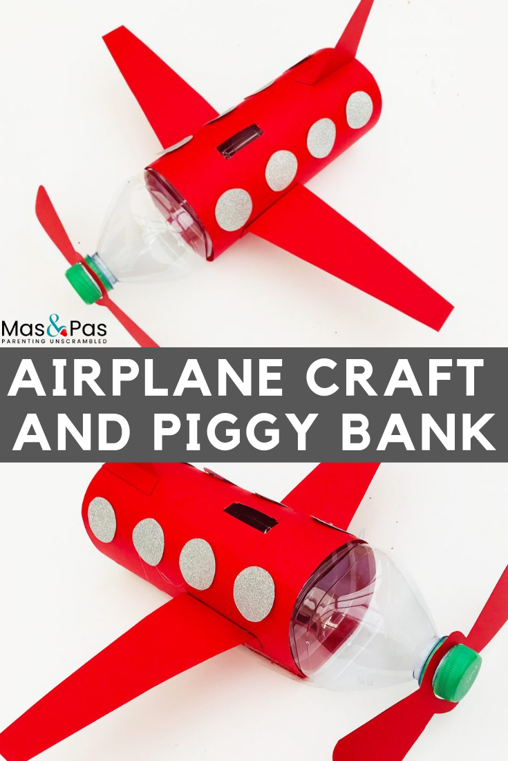 Plastic bottle airplane craft for kids