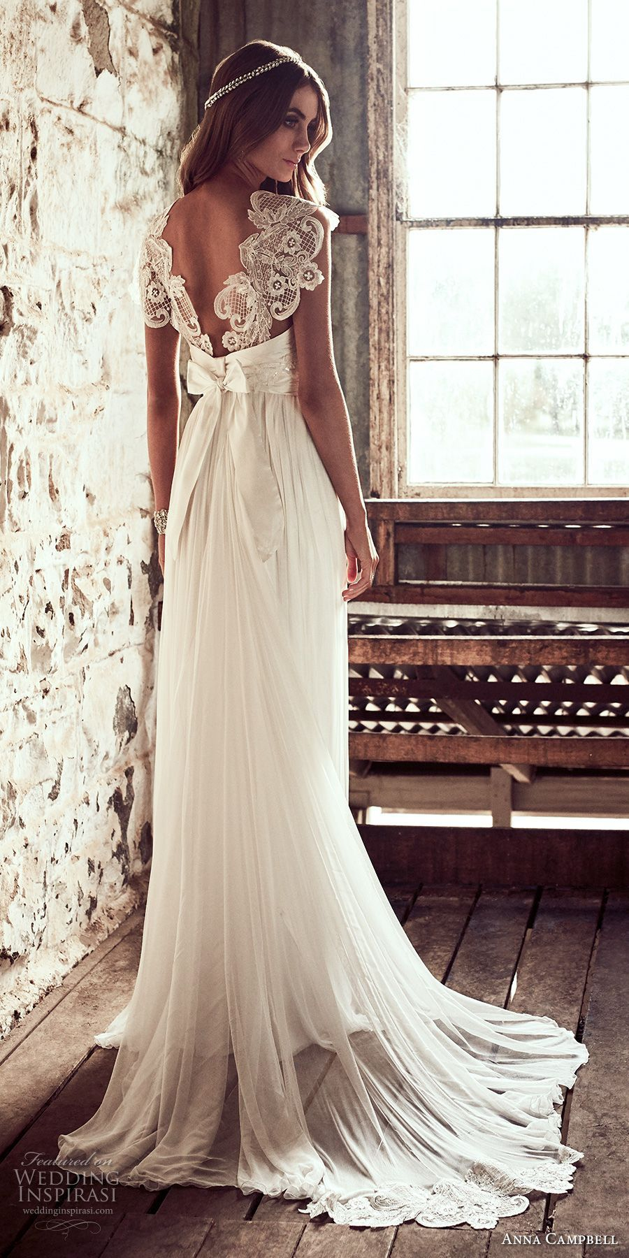 Anna campbell luxury wedding gown glamourously embellished bridal