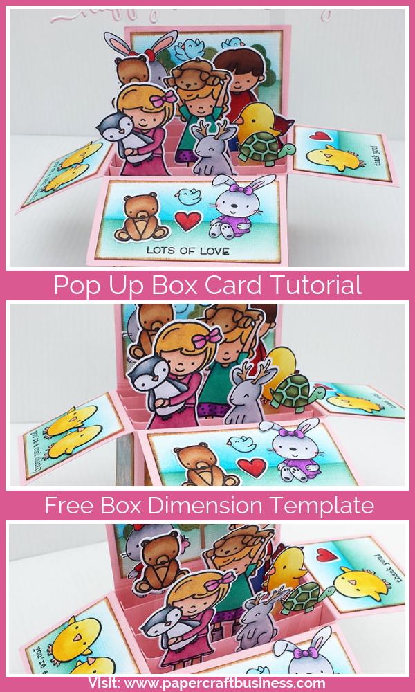 Pop Up Box Card Tutorial Free Printable Pop Up Box Template Box Cards Tutorial Pop Up Box Cards Pop Up Card Templates