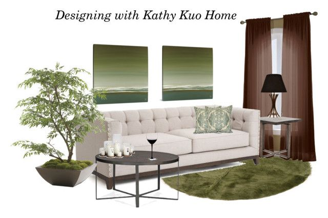 """""""Designing with Kathy Kuo Home"""" by biljana-miric-ex-tomic ❤ liked on Polyvore featuring interior, interiors, interior design, home, home decor, interior decorating, S. Lichtenberg and Co., Ethan Allen, Riedel and modern"""