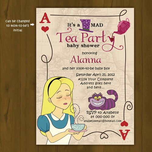 find this pin and more on wonderland tea party shop for tea party baby shower invitation