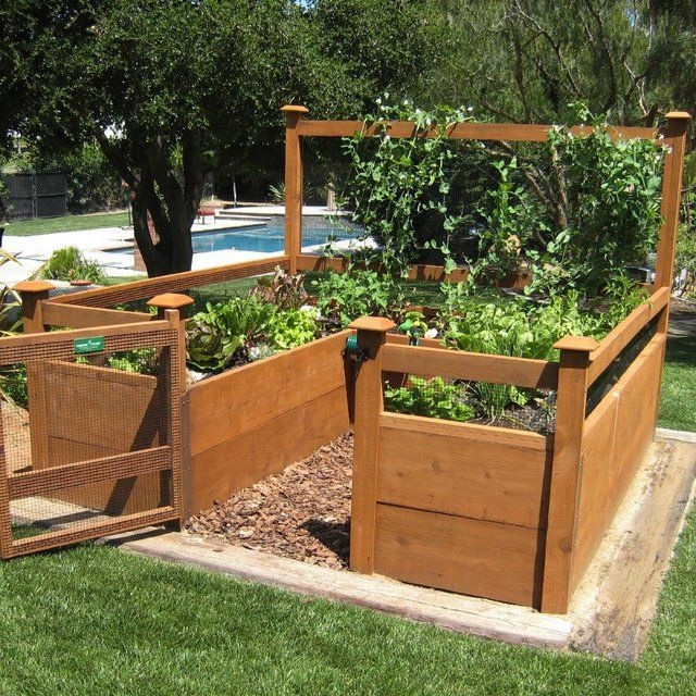 Raised Bed Organic Vegetable Garden With Images Garden Kits