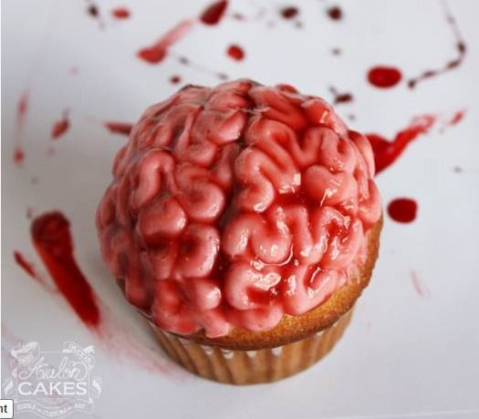 Brain cupcake #halloweencupcakes