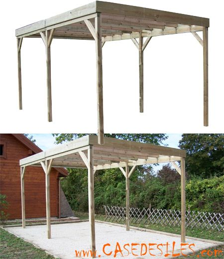 pergola en bois sans couverture car3050a pas cher jardin pinterest carport bois pergola. Black Bedroom Furniture Sets. Home Design Ideas