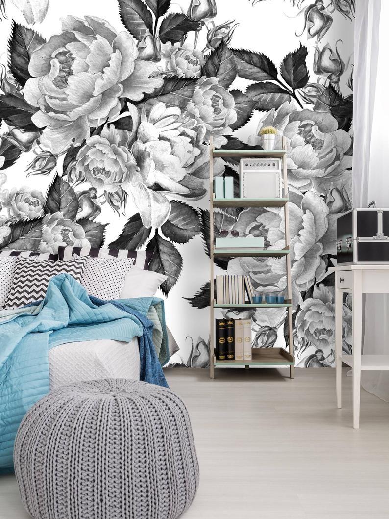 Removable Wallpaper Mural Peel Stick Self Adhesive Wallpaper Etsy Mural Wallpaper Removable Wallpaper Mural