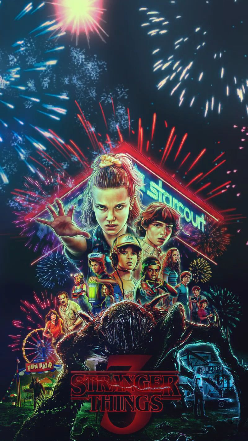 Stranger Things Season 3 animated gif wallpaper created by
