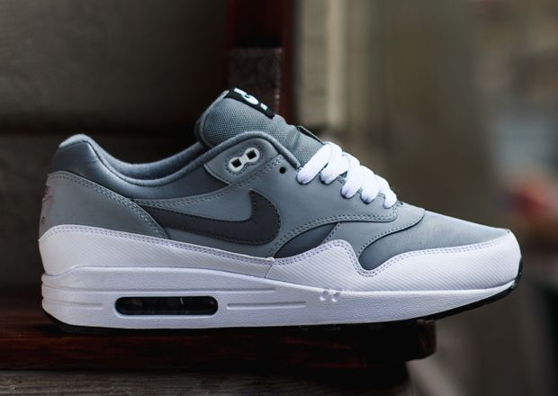 Nike Air Max 1 Leather Cool Grey Wolf Grey Sneakernews Com Cheap Nike Air Max Nike Air Max Nike Air Max Mens