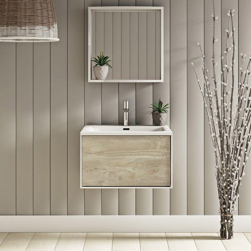 130 Bathroom Ideas, Mode Meier Grey Wall Hung Vanity Unit And Basin 600mm