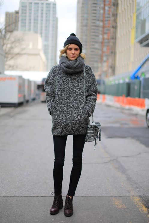 go for grey. #AlisonNix #offduty in NYC.