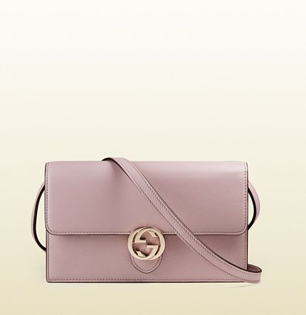 Gucci - Icon leather wallet with strap