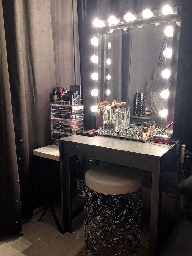 DIY Vanity Mirror With Ikea Lights. I Really Like How She Wrapped The Lights  Over. Hollywood ...