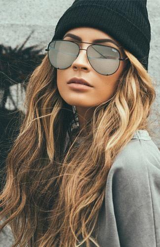f432faf854f Quay x Desi - High Key Sunglasses - Black Silver https   twitter