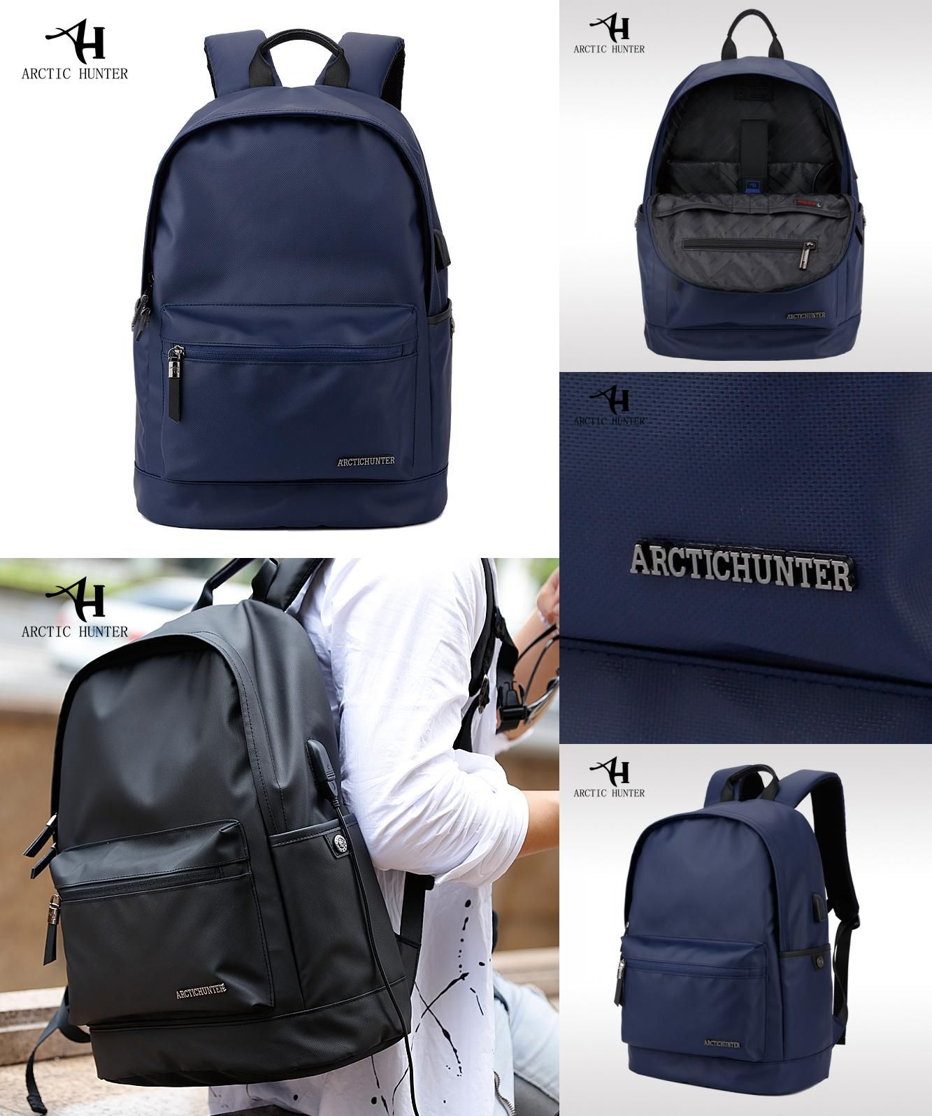 7334ffd742  Visit to Buy  ARCTIC HUNTER Waterproof School Backpack Bag For College  Simple Design Men