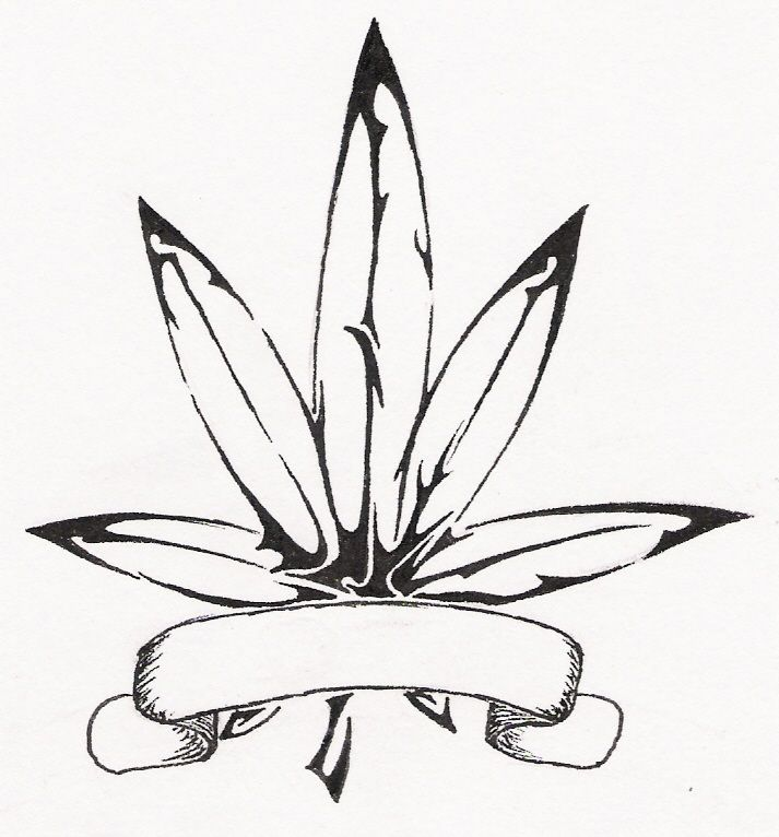 Image result for weed tattoos weed pinterest weed tattoo for Coloring pages weed