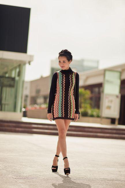 811627331e44 9.11 stripes  missoni for target   sculpted heels (Missoni for Target dress  + Vince turtleneck top + Steve Madden  gretta  heels + Chanel bag) Wendy s  ...