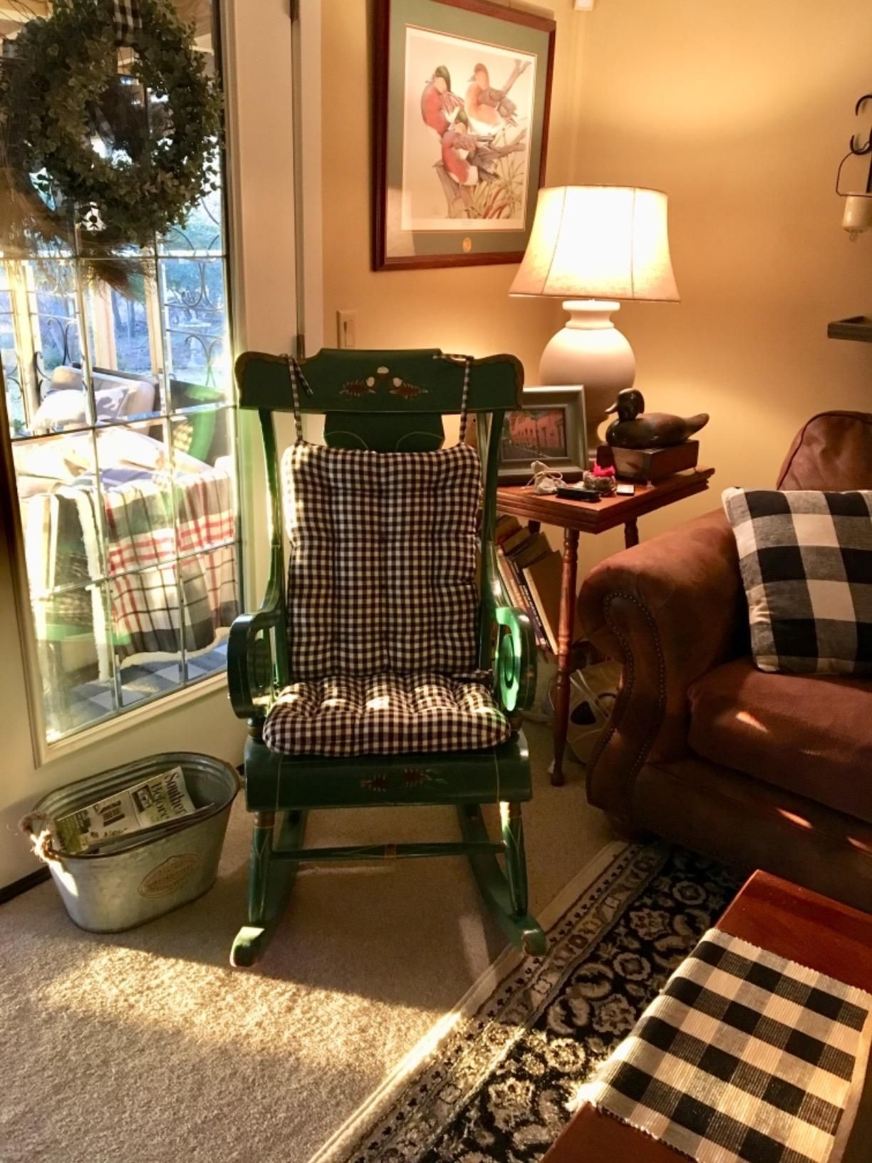 extra wide rocking chair cushions