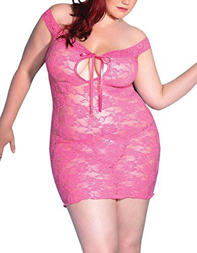 Fashion Bug Sexy Sleeveless Lace Dress Lingerie Plus Size www.fashionbug.us #plussize #fashionbug #lingerie