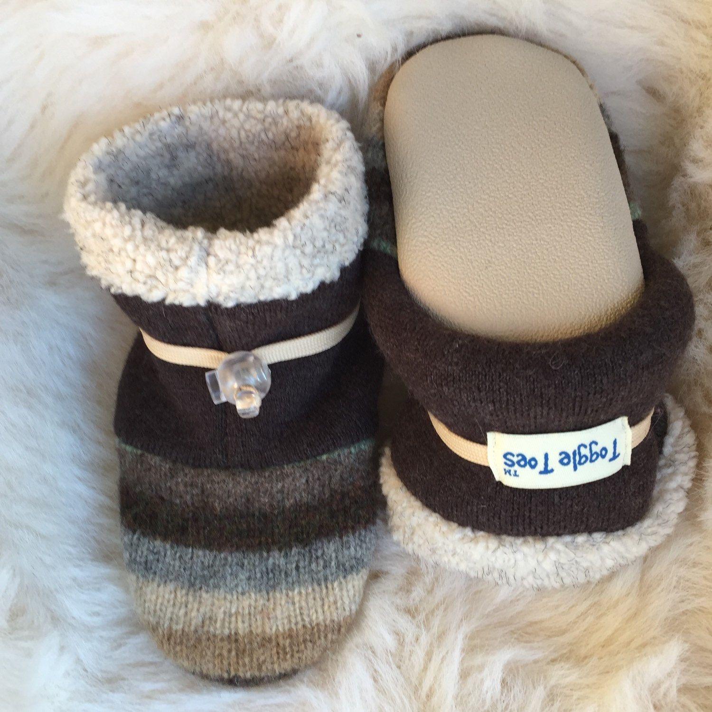 Wool child s slipper non slip soft sole shoe boy or girl slippers