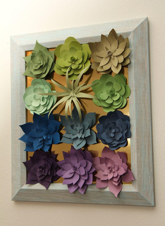 Paper Succulent Wall Hanging  Paper flowers   Pinterest  Paper