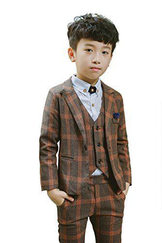 Amazonsmile Boys Plaid Suits Formal Dress Blazer Vest Pants 3