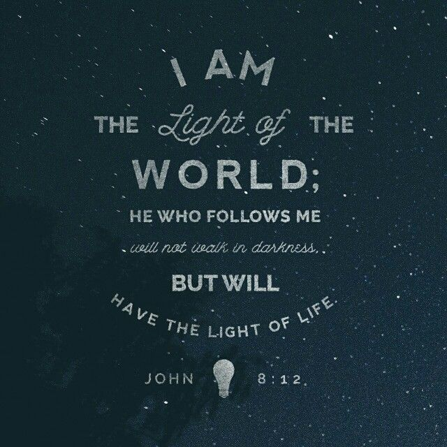 When Jesus Spoke Again To The People He Said I Am The Light Of