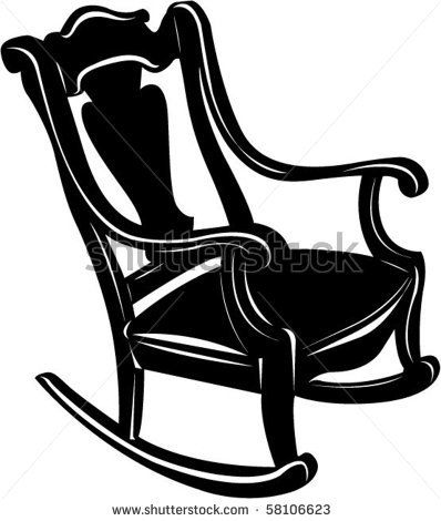 Picture Of A Black Wooden Antique Rocking Chair In A Vector Clip Art Illustration Rocking Chair Antique Rocking Chairs Chair