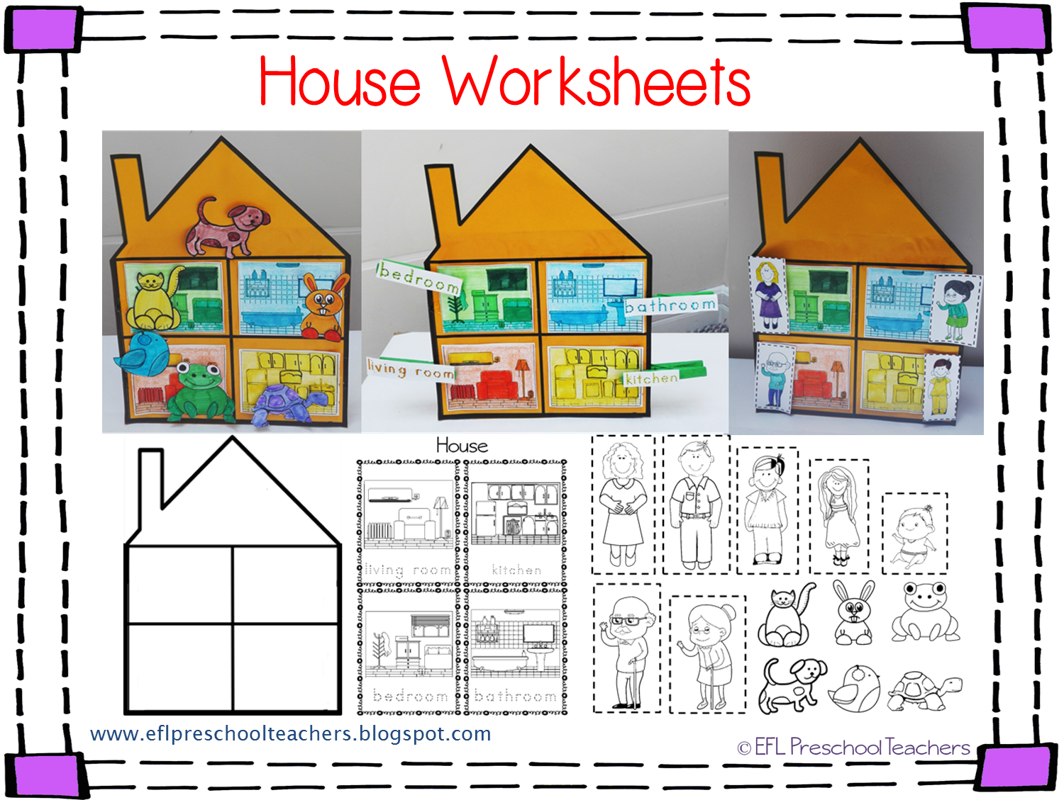 House Worksheets For The Preschool Ell With Images