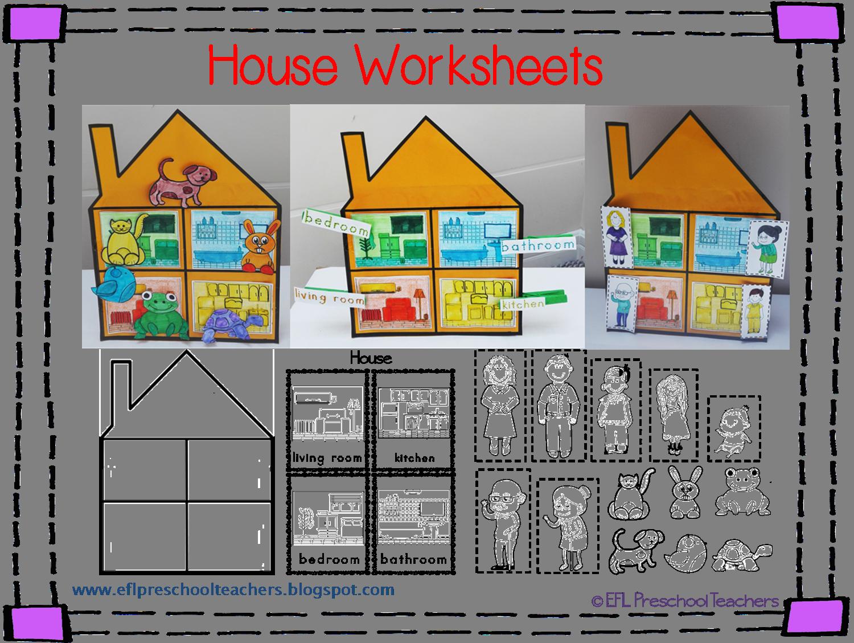 House Worksheets For The Preschool Ell