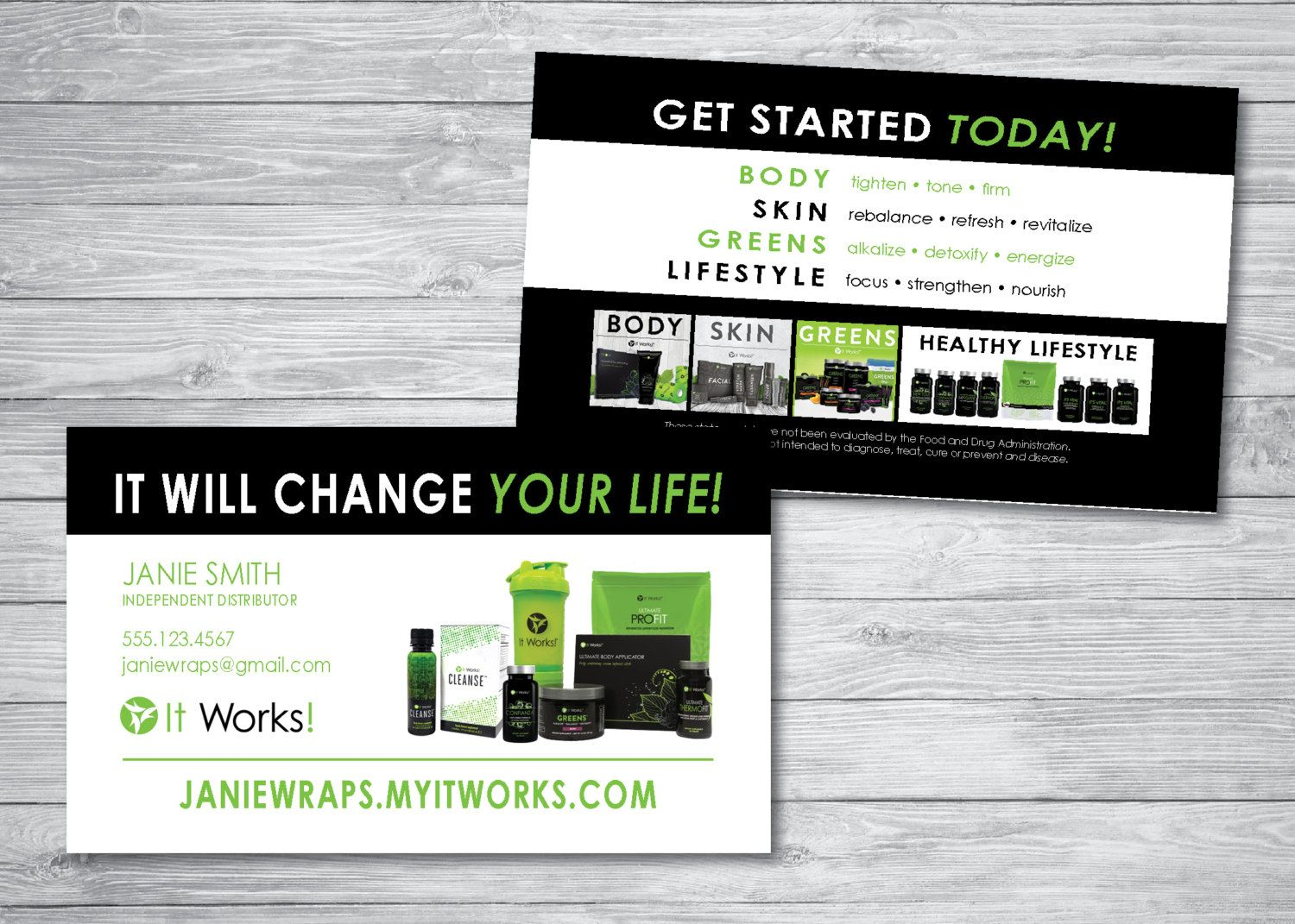 It Works Business Cards 8 | Great Business Cards | It Works ...