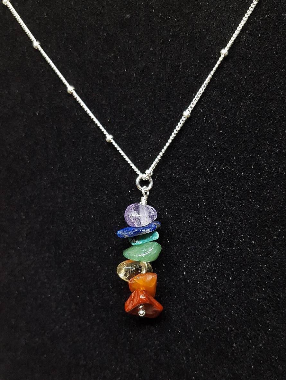 New Handmade Good Energy Jasper Pendant Necklace Green Purple Natural Raw Precious Stones  Festival Wear Gift