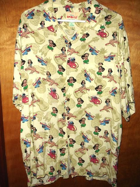 d8a04692 Reyn Spooner Lilo and Stitch Hawaiian shirt. We believe this was a shirt  produced for the production staffers of the movie Lilo and Stitch.