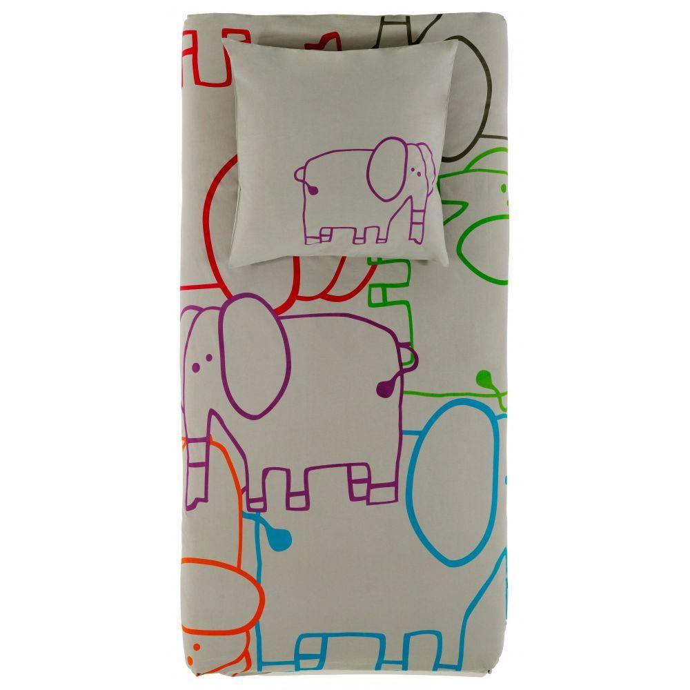 elephant housse de couette enfants textiles de nuit. Black Bedroom Furniture Sets. Home Design Ideas