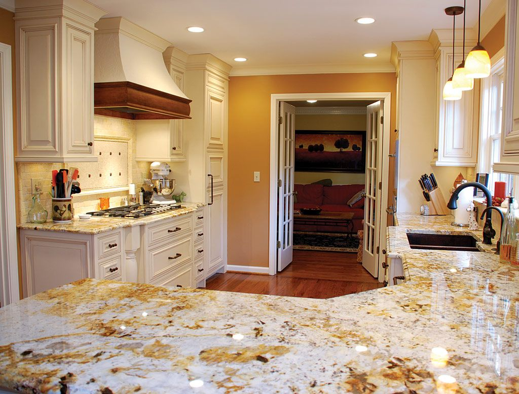 Kitchen With Granite Spanish Kitchens With Alderwood Cabinets Granite Counters Csi