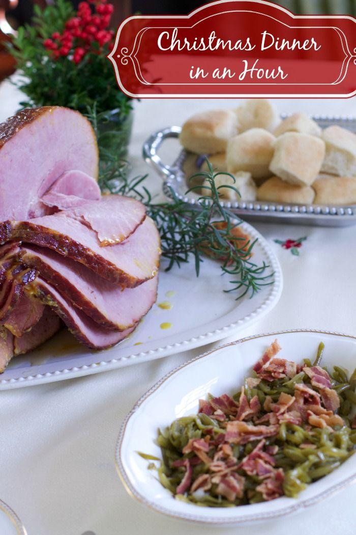 Christmas Ham Dinner.Easy Glazed Ham