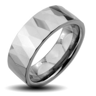@Overstock - Men's faceted flat ringTungsten carbide jewelryClick here for ring sizing guidehttp://www.overstock.com/Jewelry-Watches/Tungsten-Carbide-Mens-Faceted-Flat-Wide-Ring/6455745/product.html?CID=214117 $51.99