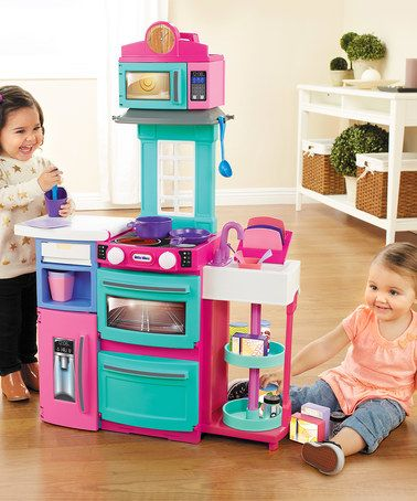 Another great find on #zulily! Pink & Green Cook N Store Kitchen Play Set #zulilyfinds
